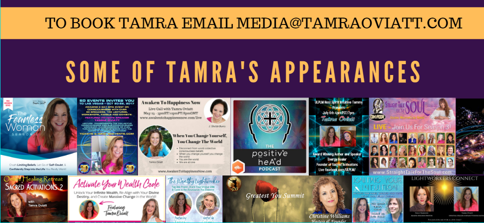 Best Selling Author Tamra Oviatt - Sacred Activations